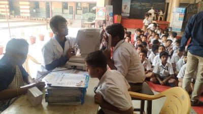 School children at screening